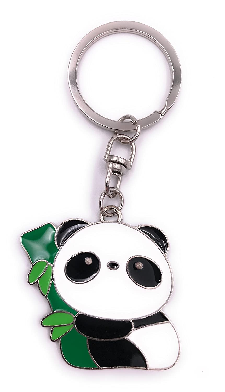 H-Customs Oso Panda con Colgante de Llavero de árbol de ...