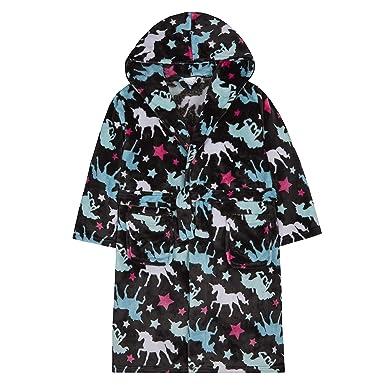 4kidz Robe De Chambre Fille Imprimée à La Licorne Et Aux étoiles