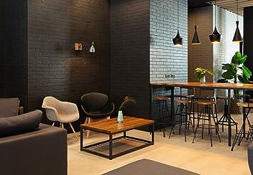 Indhouse sgabello per bar e loft stile industriale in ferro e
