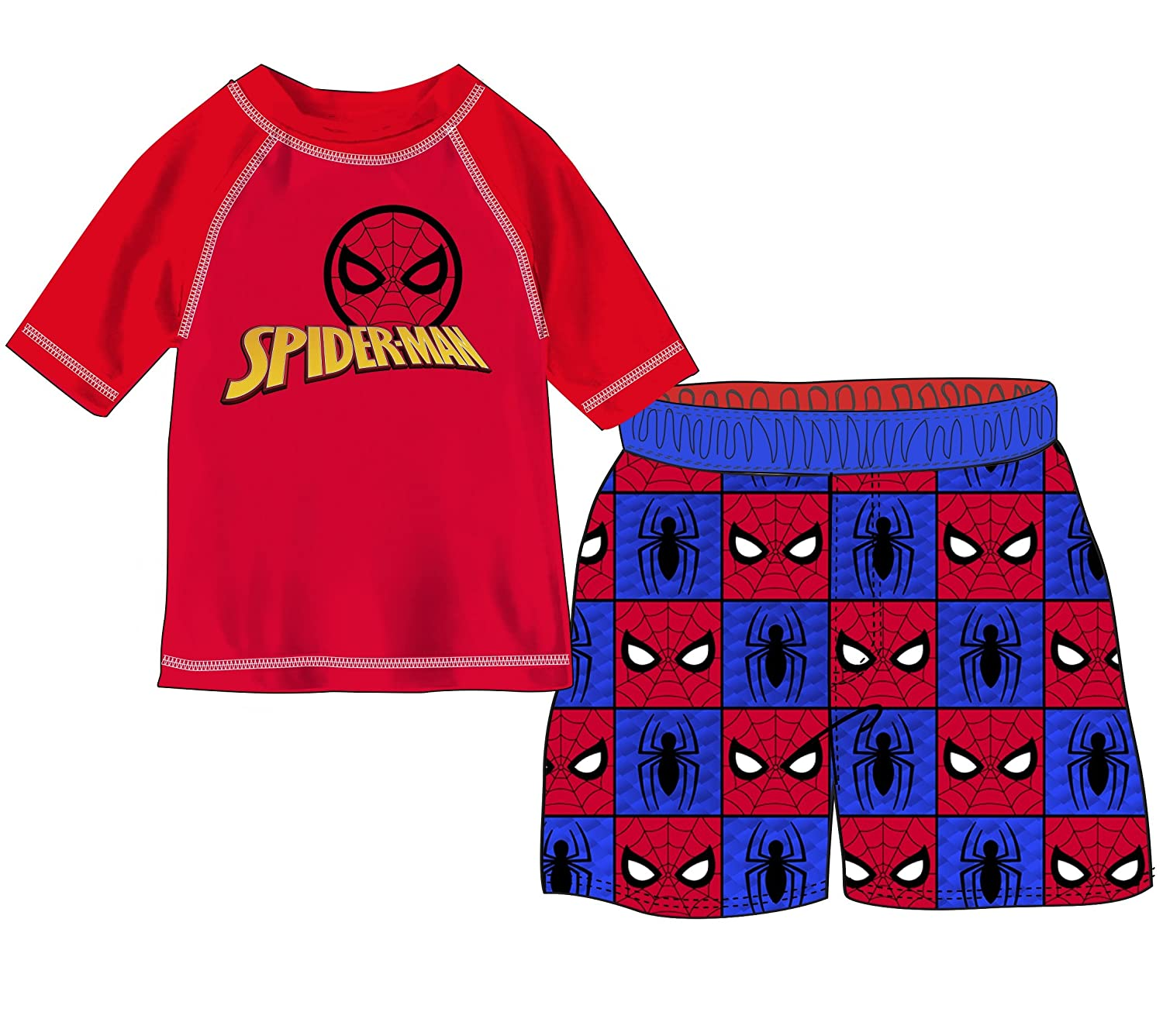 Marvel Boys' Spider-Man 2-Piece Swim Set