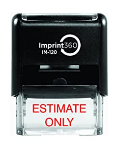 Supply360 AS-IMP1057 - Estimate ONLY, Heavy Duty Commerical Quality Self-Inking Rubber Stamp, Red Ink, 9/16