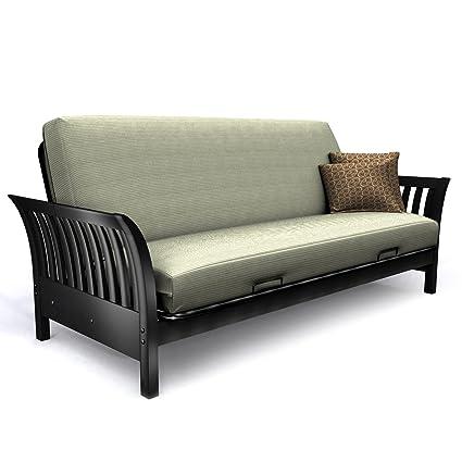 R Elite Products Florenzia Junior Twin Wood Futon Chair Frame