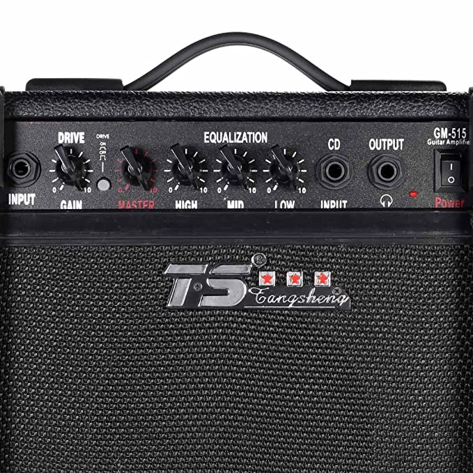 Amazon.com: ammoon GM-515 Professional 3-Band EQ 15W Electric Guitar Amplifier Amp Distortion with 6.5