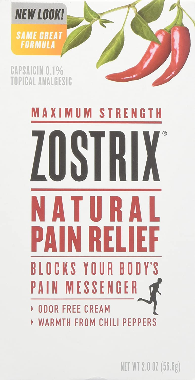 Zostrix Pain Relief Cream Maximum Strength 2 oz
