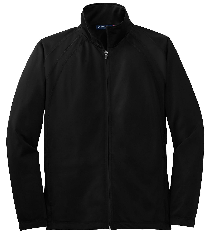 Sport-Tek Tricot Track Jacket.,Large,Black//Black