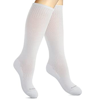 450f7b31b160a Cotton Compression Socks for Women. Graduated Stockings for Nurses,  Maternity, Travel, Flight