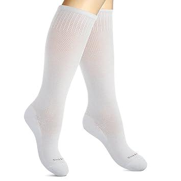 e18c42ed654 Cotton Compression Socks for Women. Graduated Stockings for Nurses,  Maternity, Travel, Flight