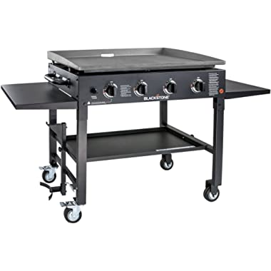Blackstone 1554 Station-4-burner-Propane Fueled-Restaurant Grade-Professional 36 inch Outdoor Flat Top Gas Griddle Station-4-bur, 36  - 4 Burner, Grill