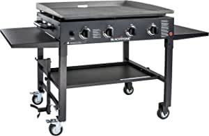 "Blackstone 1554 Station-4-burner-Propane Fueled-Restaurant Grade-Professional 36 inch Outdoor Flat Top Gas Grill Griddle Station-4-bur, 36"" - 4 Burner"