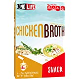 LonoLife Chicken Broth Snack, Stick Packs, 24 Count