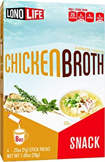 product image for LonoLife Chicken Broth Snack, Stick Packs, 24 Count