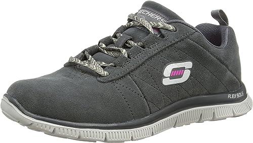 Skechers Damen Flex Appeal Casual Way Sneaker, Grau (Char iNoW1