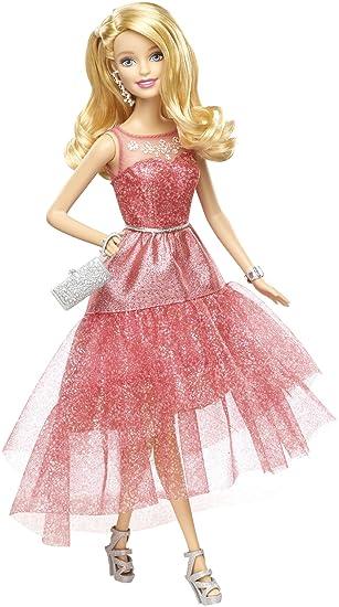 Barbie - Muñeca con Vestido de Gala, Color Rosa (Mattel CHH04)