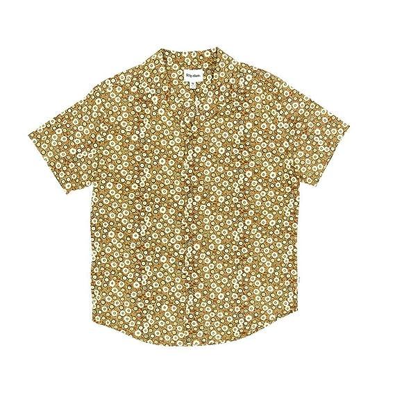 RHYTHM Santiago Short Sleeved Shirt - Henna