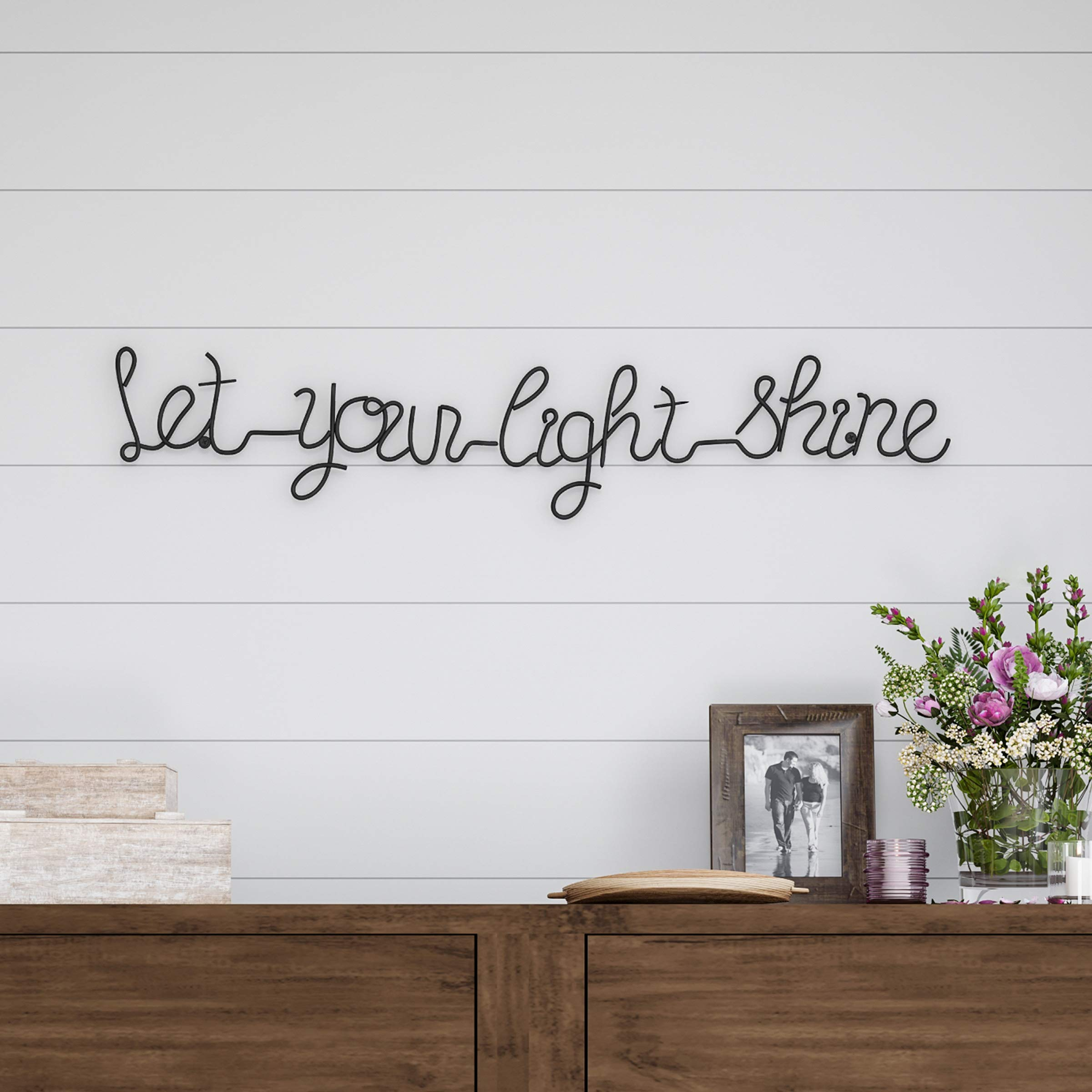 Lavish Home Metal Cutout- Let Your Light Shine