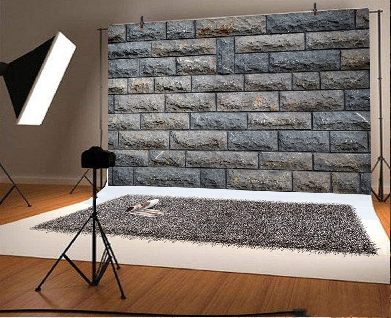 YEELE Antique Stone Wall Backdrop 12x10ft YouTube Videos Work Event Photography Background Newborn Baby Kids Adults Portrait Dessert Table Decor Clothes Photos Photobooth Props Digital Wallpaper