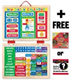 My First Daily Magnetic Calendar + FREE Melissa & Doug Scratch Art Mini-Pad Bundle