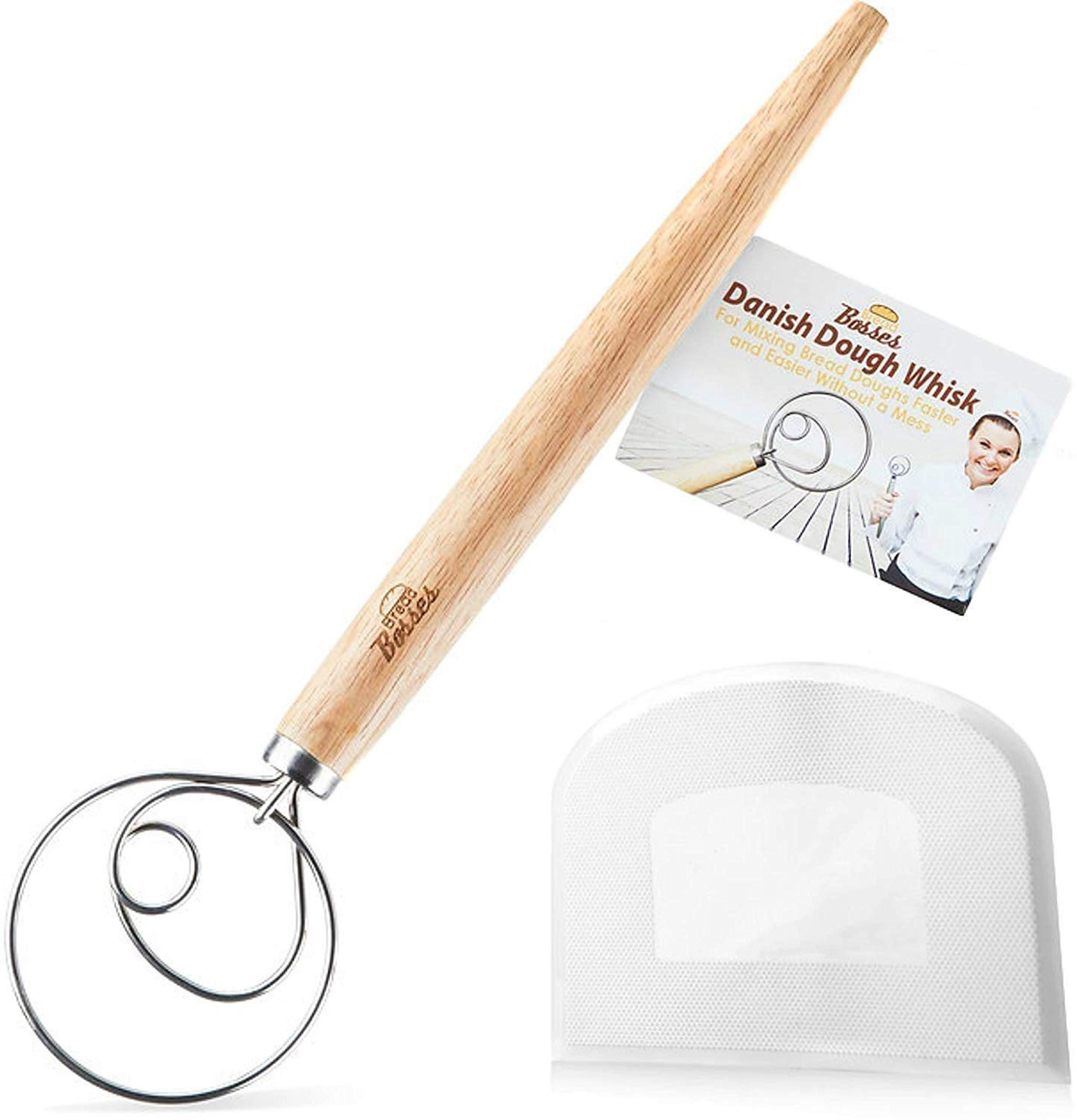 Danish Dough Whisk Bread Mixer - Hook Dutch Pizza Dough Making Bread Mixer Whisk Hooks Accessories Wisks - Great As A Gift