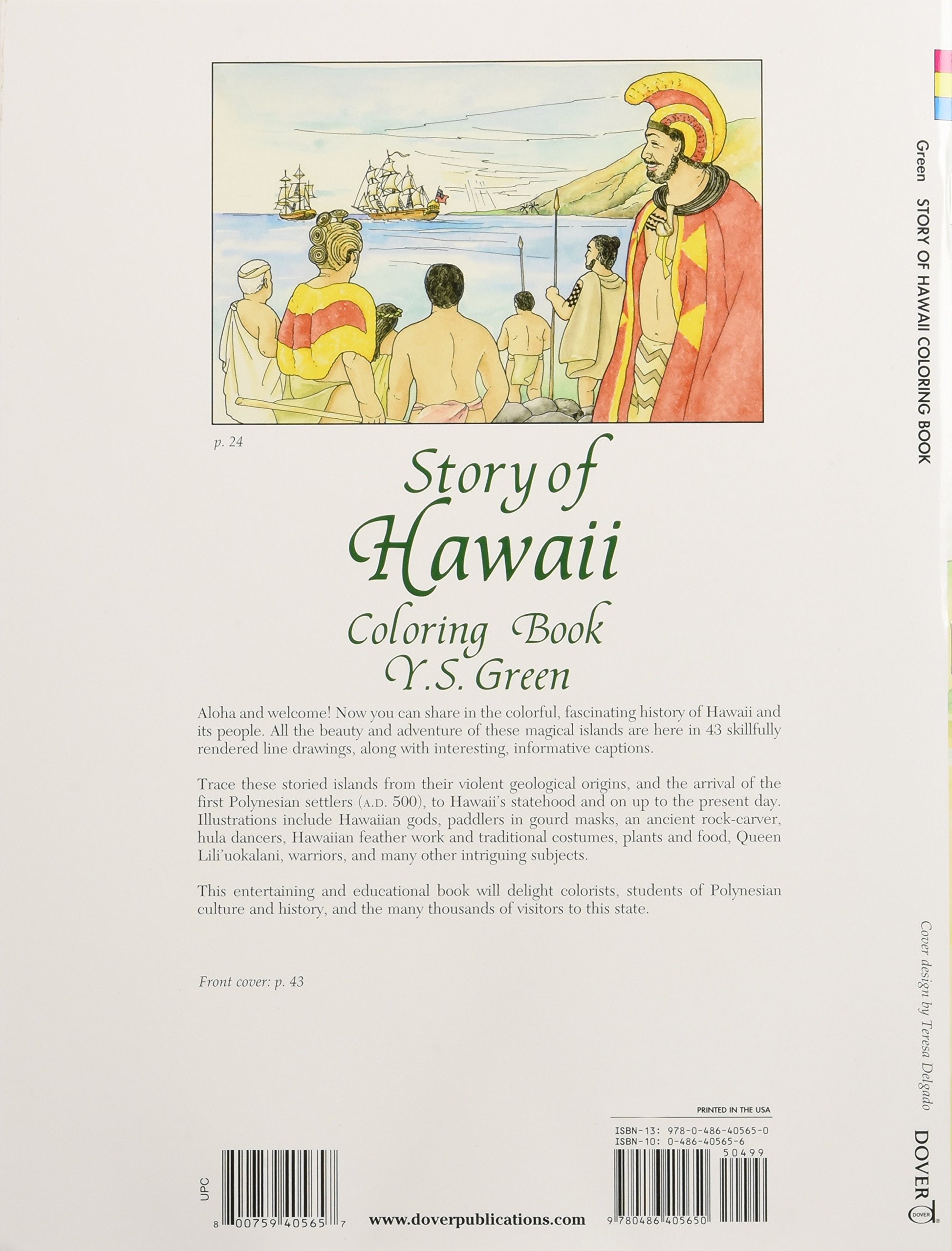 story of hawaii coloring book dover history coloring book y s green coloring books 0800759405657 amazoncom books - Hawaii Coloring Book