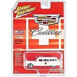 Johnny Lightning 1959-1966 Cadillac Ambulance /& Hearse set of 4 Loose 1:64