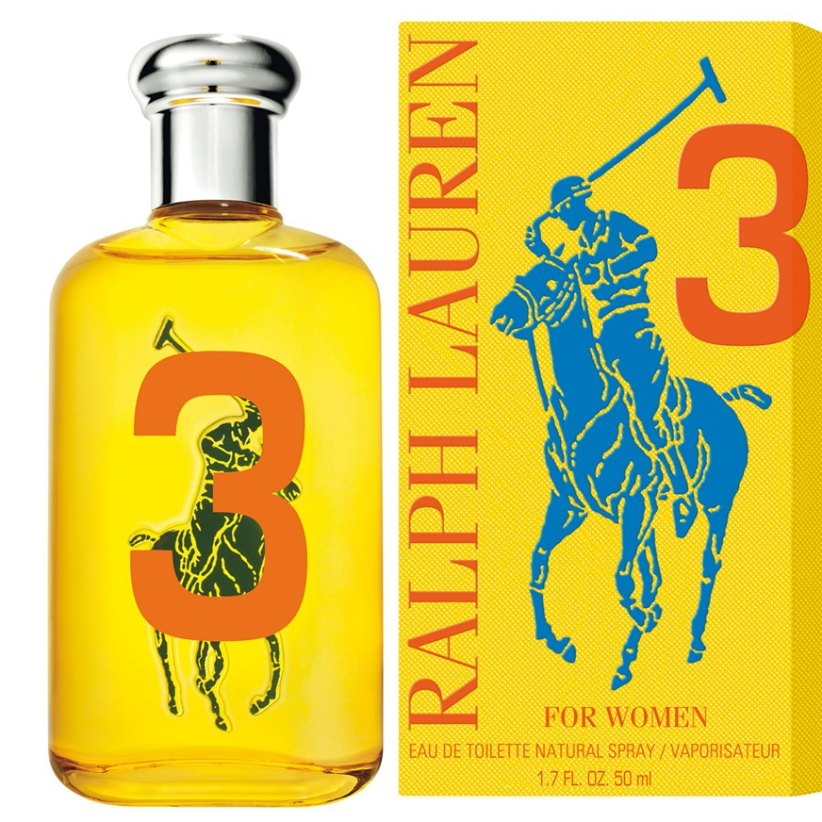 Ralph Lauren Eau de Toilette Spray for Women, The Big Pony Collection # 3, 1.7 Ounce