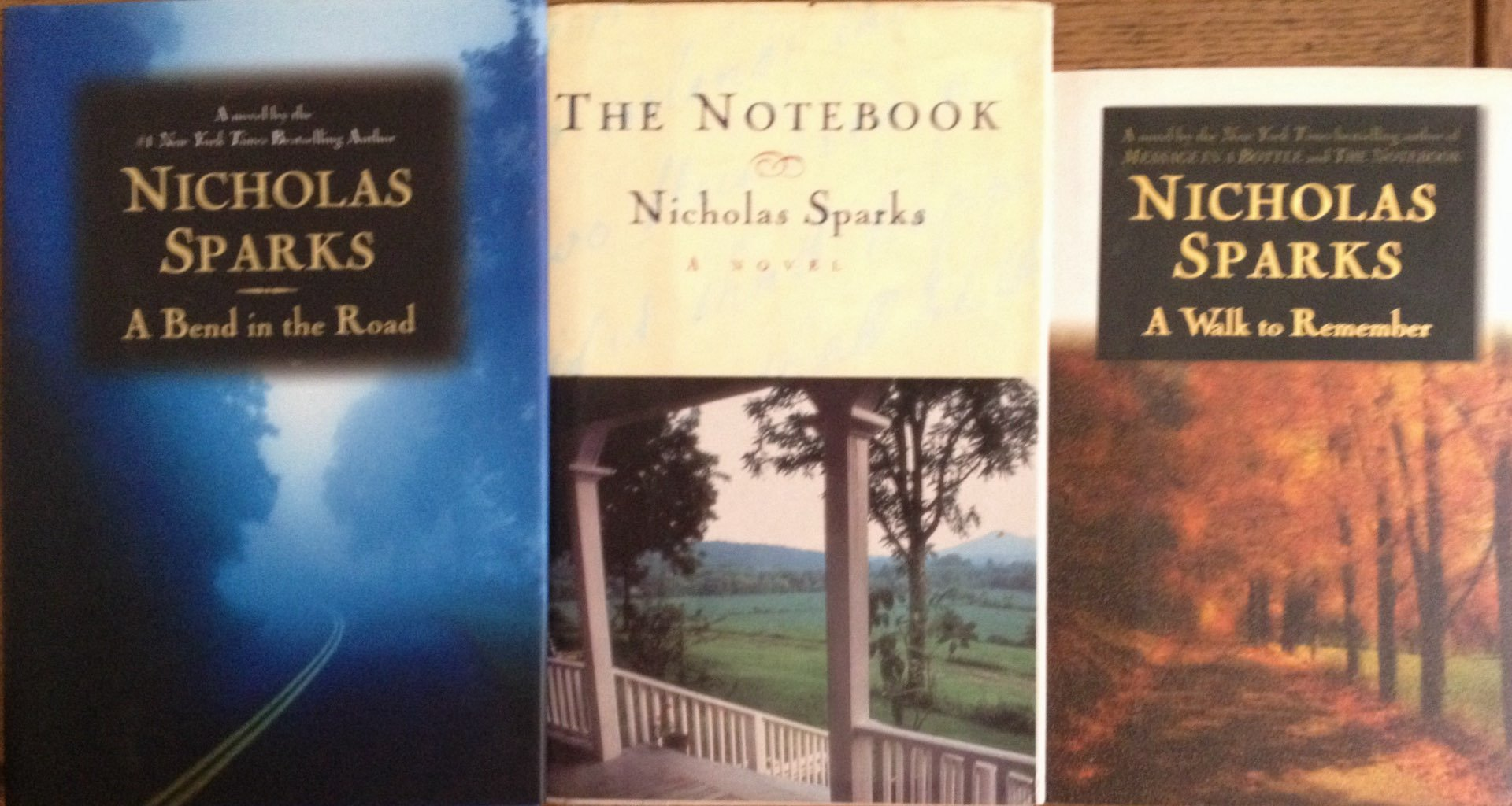 3 Books: Love Stories by Nicholas Sparks - A Bend in the Road, The  Notebook, A Walk to Remember: Nicholas Sparks: Amazon.com: Books