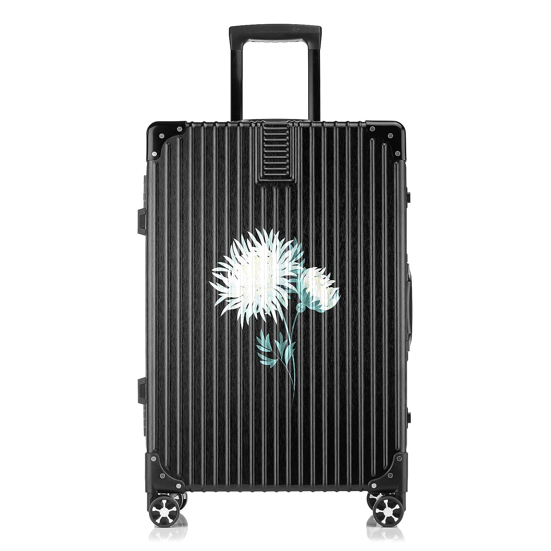 GSHCJ スーツケース 美しい菊の花束 キャリーケース 20インチ おしゃれ ブラック Tsaロック搭載 プリント ハード 超軽量 軽い 機内持込 ロックファスナー 旅行 ビジネス 出張 海外 修学旅行 丈夫 便利 レディース メンズ 学生 B07S1BJSKF