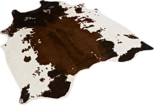 TextilerfromChina Cow Print Rug 4.1×4.2 Feet Faux Cow Hide Rug Animal Printed Area Rug Carpet for Home