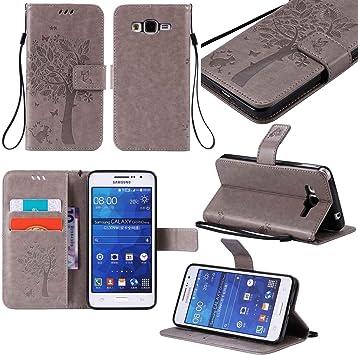 Guran® Funda de Cuero Para Samsung Galaxy Grand Prime (G530 ...