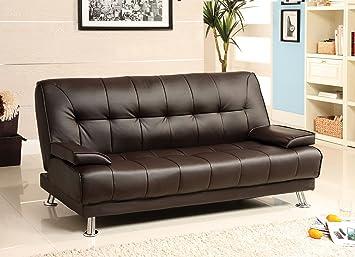 Amazon.com: Muebles de América Parrington polipiel futon ...