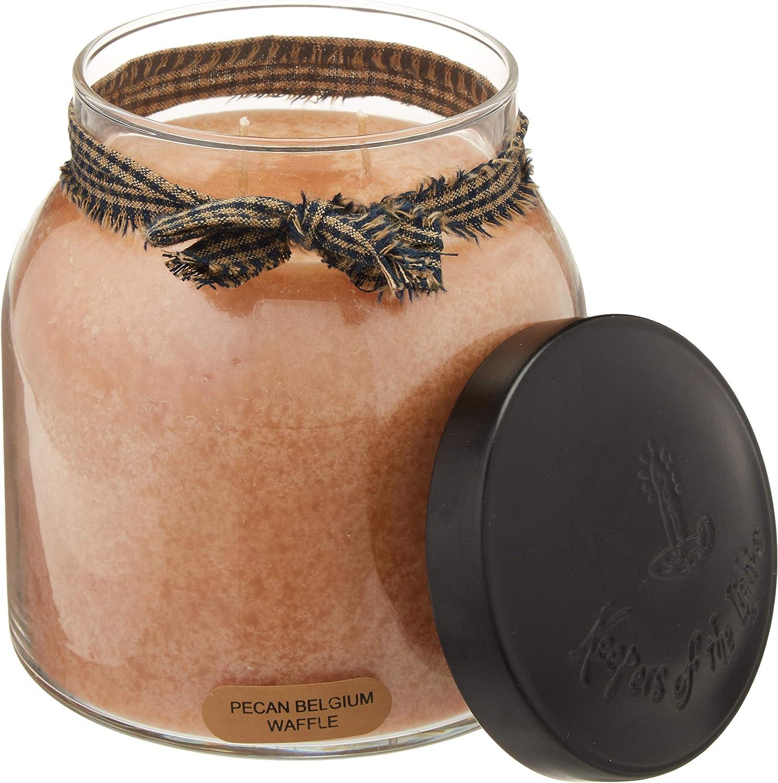 A Cheerful Giver Pecan Belgium Waffles 34oz Papa Jar Candle, Tan
