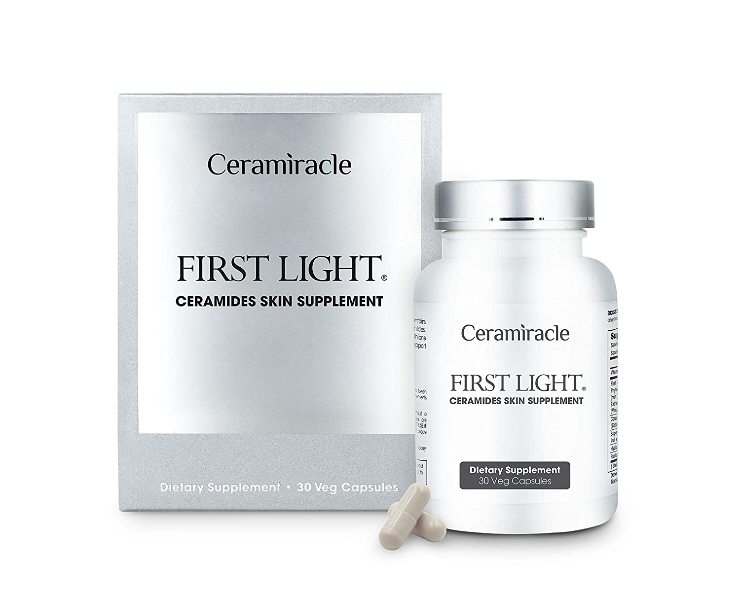 Ceramiracle First Light Ceramides Skin Supplement, Target Visible Signs of Aging, Boost Hydration, 30-Day Supply…