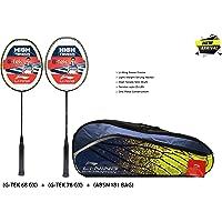 Li-Ning G-TEK GX Series Strung Badminton Racquet Set of 2 with Kit Bag