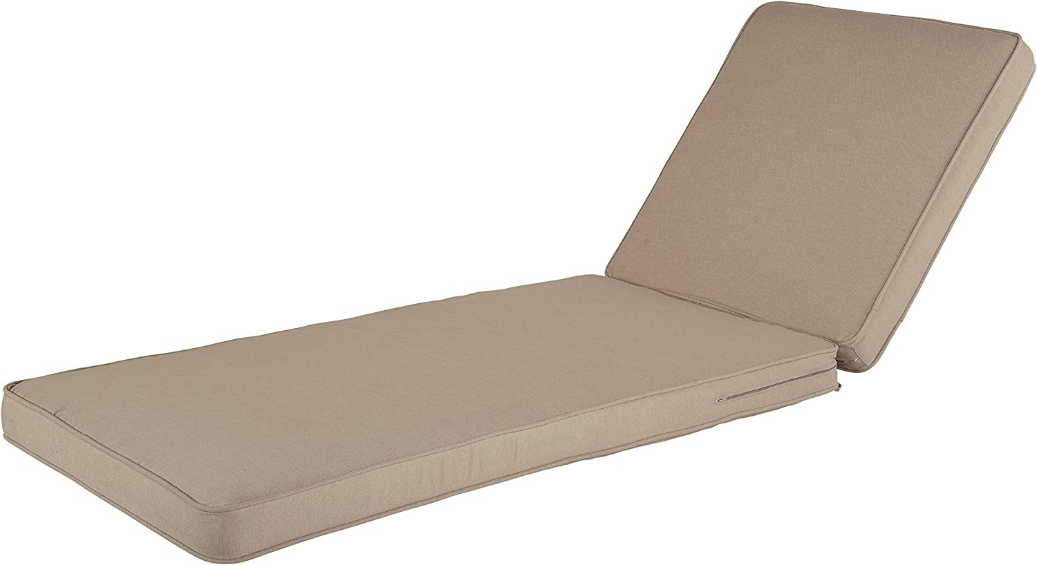 Quality Outdoor Living All Weather Deep Seating Patio Chaise Lounge Seat and Back Cushion Set, 23-Inch by 52-Inch, Beige