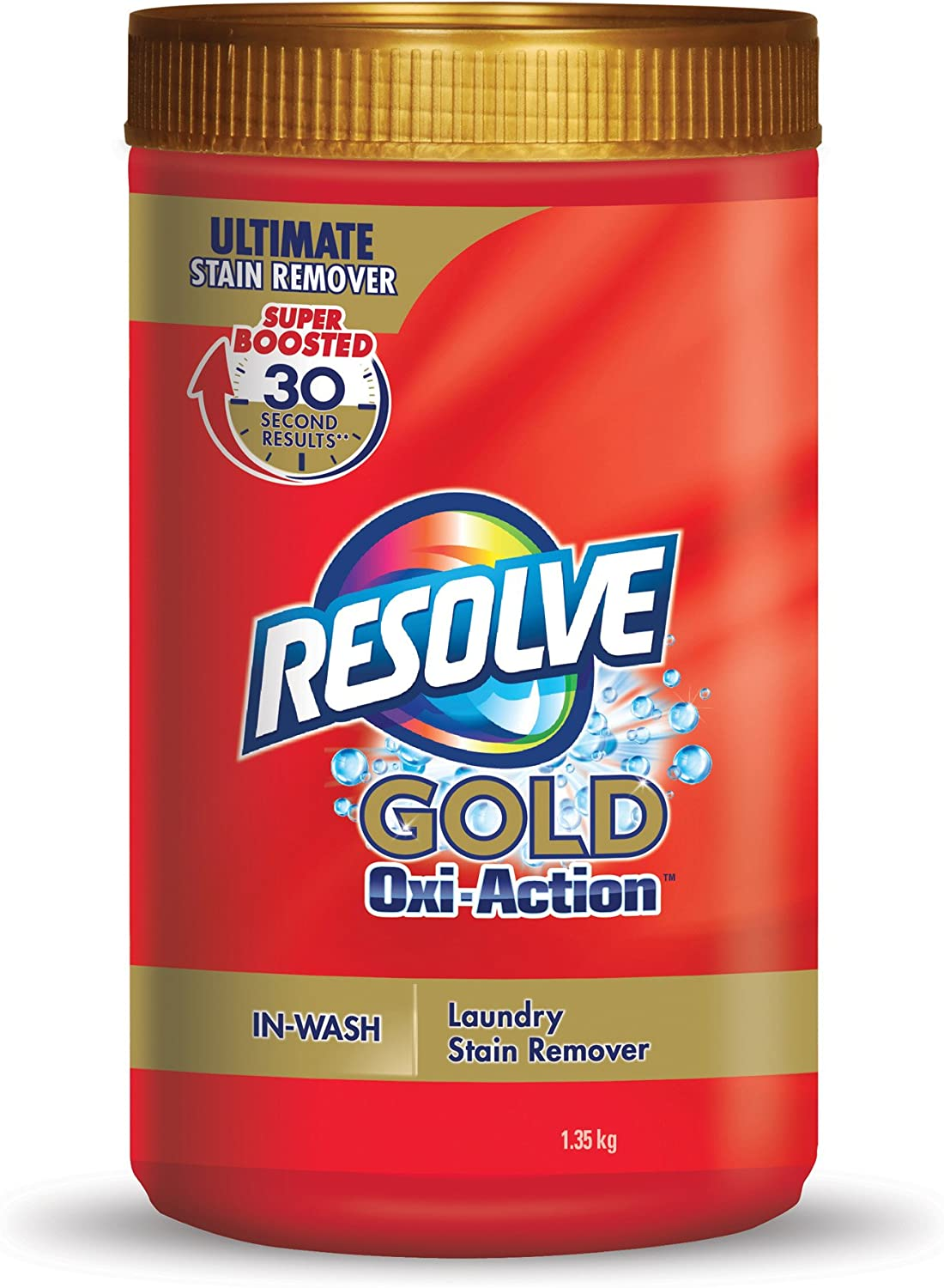 Resolve Gold Oxi Action in-Wash Powder Stain Remover - 48 Oz / 1.35 Kg
