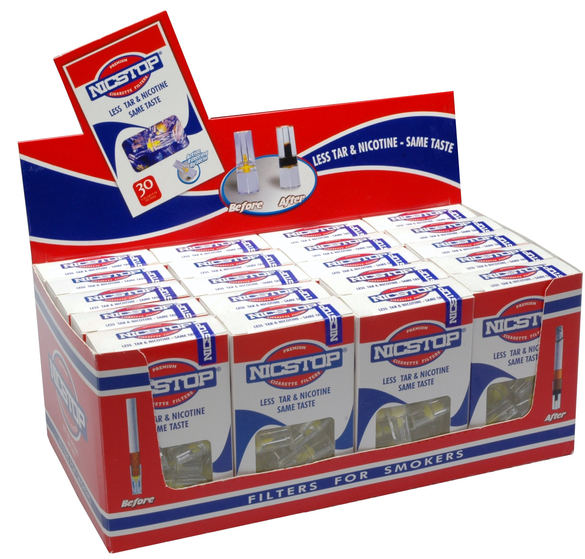 NICSTOP Cigarette Filters 20 Pack (600 Filters)