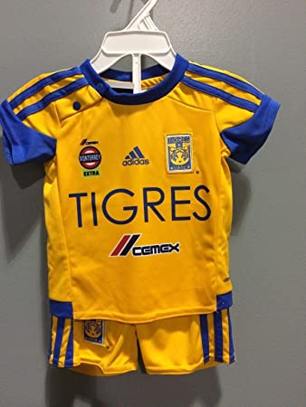 Tigres UANL Yellow Home Liga MX Kids Jersey and Shorts Set Pumas America Chivas (0