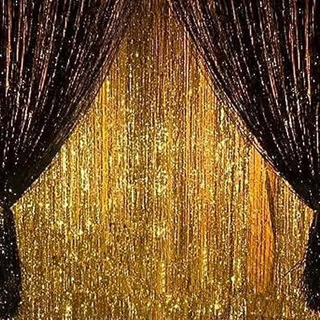 Amazon.com: 2 unidades de cortina de flecos de papel de ...