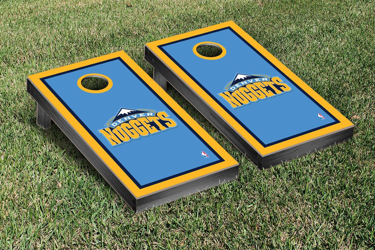 Denver Den Nuggets NBA Basketball Cornhole Game Set Border Version by Victory Tailgate