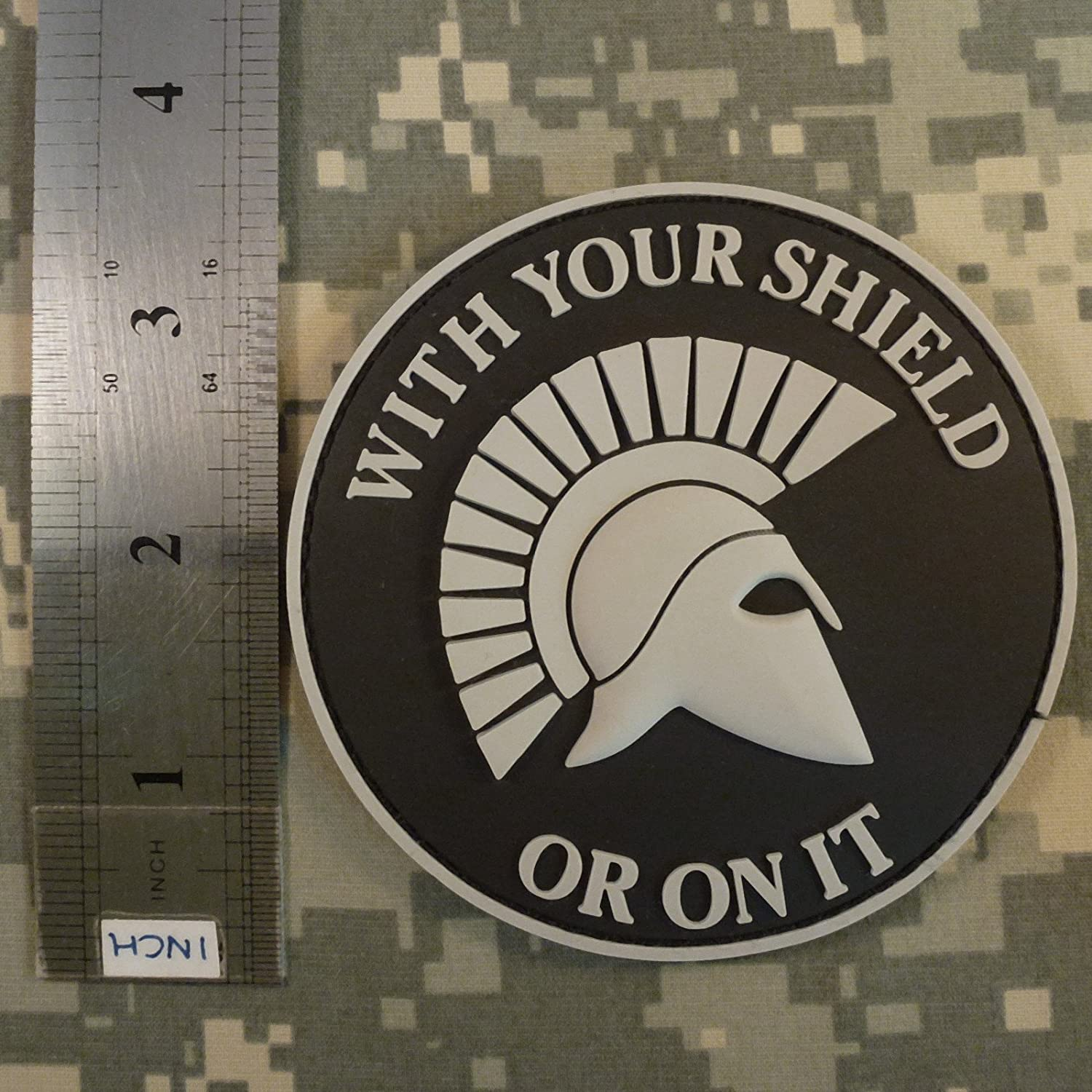 2AFTER1 WITH YOUR SHIELD OR ON IT Spartan Helmet Morale US Navy Seals PVC Rubber Touch Fastener Patch