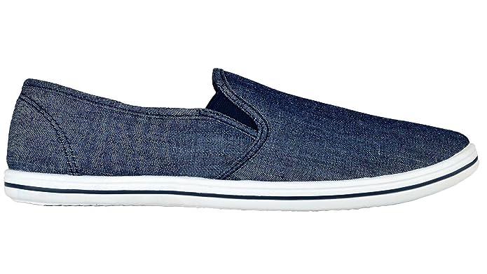 Zapatillas de tela elástica para hombre, ajuste sin cordones