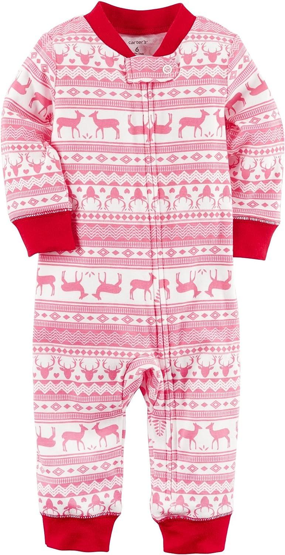 Carters Baby Girls Zip-Up Holiday Cotton Sleep /& Play
