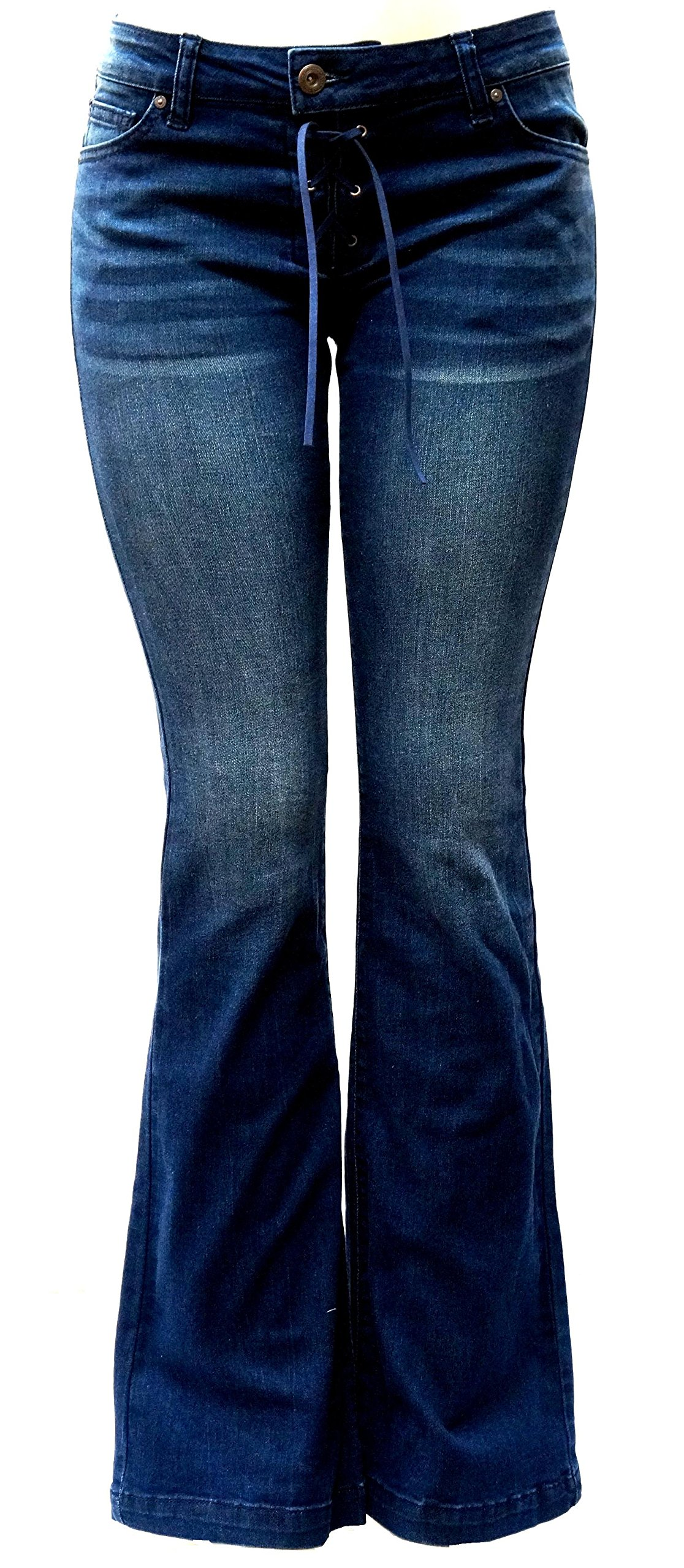 Wax Jack David Jeans Womens Juniors 70s Trendy Slim Fit