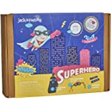 Superhero themed Art and Craft Kit for Boys | 3 Activities-in-1 | Best Boy Gift for Ages 5 to 8 Years | Includes Beautiful Felt and Foam Embellishments (Superhero 3-in-1)