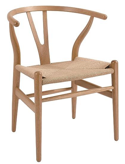 Attirant Stilnovo AMZDC541NATURAL The Wishbone Chair, Natural