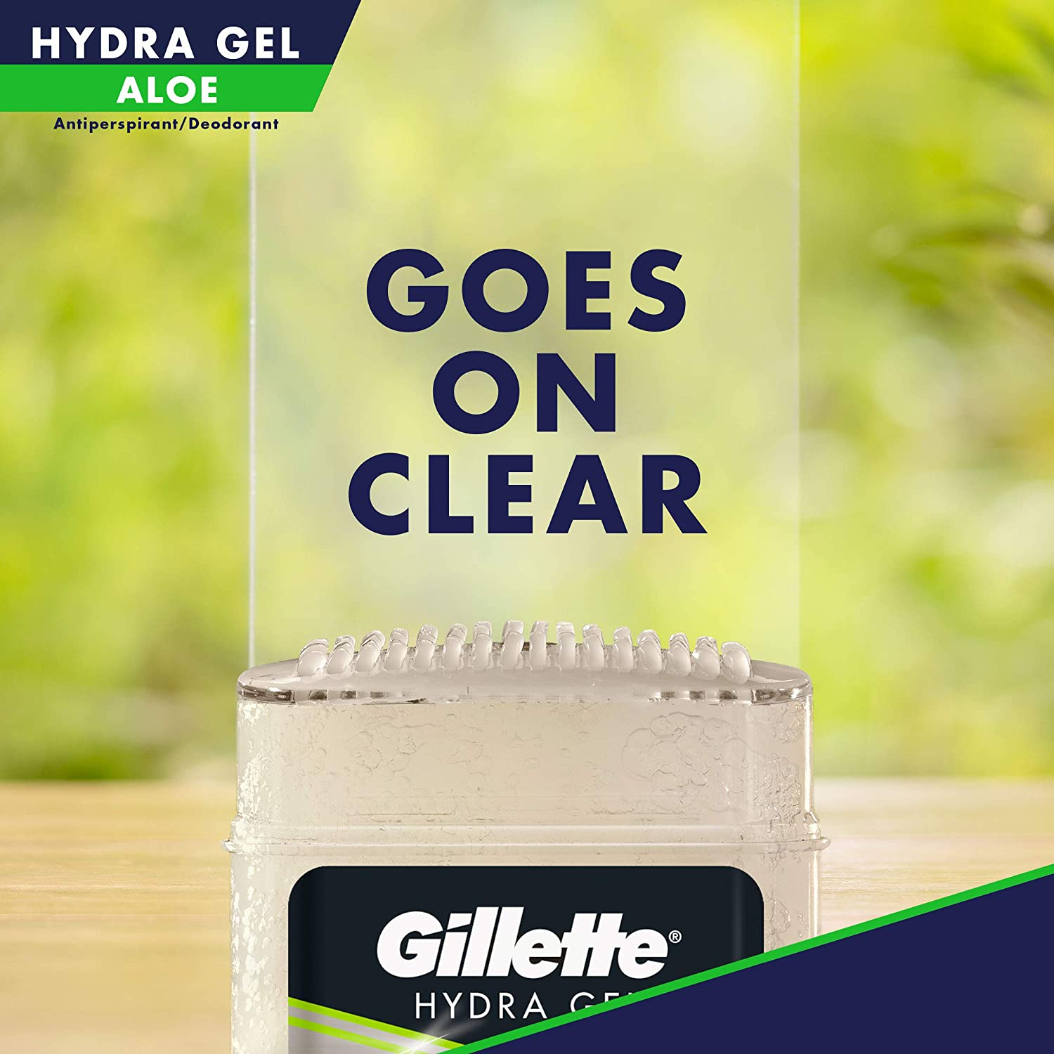 Gillette Antiperspirant Deodorant for Men, Hydra Clear Gel With Aloe, 3.8 Oz, Pack Of 3 : Beauty