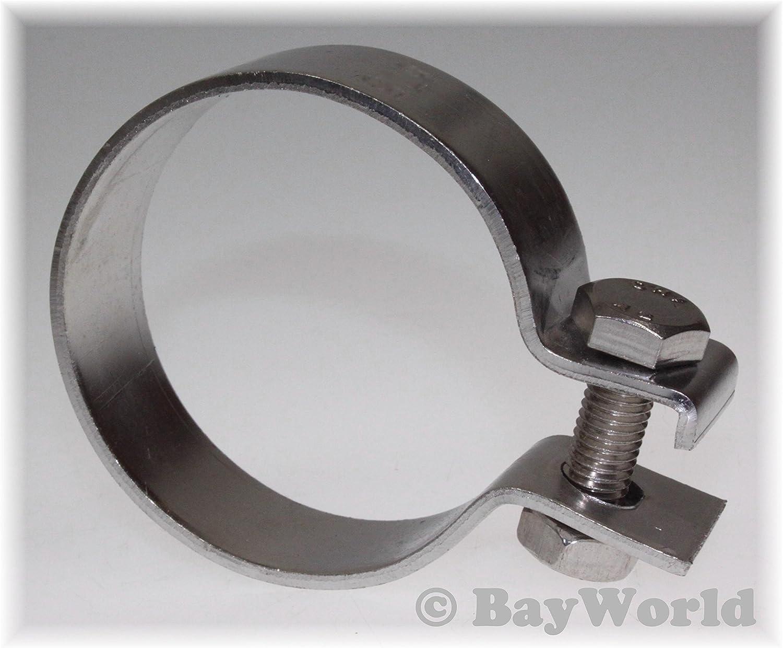 DIN Schelle 67,5mm V2A Edelstahl 2.65 Zoll Breitbandschelle Auspuffklemme
