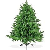 Künstlicher Weihnachtsbaum 120cm DeLuxe in Premium Spritzguss Qualität, grüne Nordmanntanne, Tannenbaum mit PE Kunststoff Nadeln, Nordmannstanne Christbaum