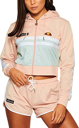 a59f5d48 ellesse Ala Zip Front Crop Top Sterling Pink/Sterling Blue - L (UK ...
