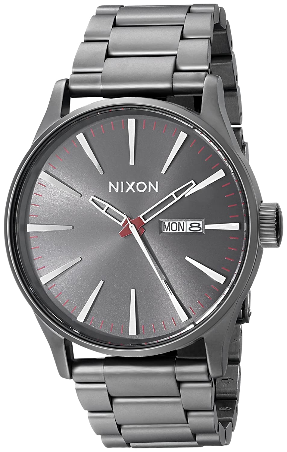 watches in ss analogue black sentry watch mens nixon gold